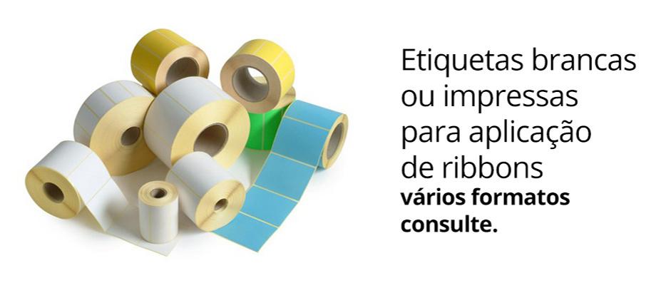 Etiquetas brancas ou impressas para aplicação de ribbons